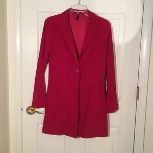 Vintage red suede coat